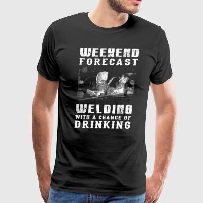 Welding With A Change Of Drinking T-Shirts - Men's Premium T-Shirt