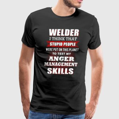 Welder I Think That Stupid People T-Shirts - Men's Premium T-Shirt