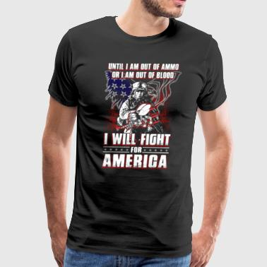 Until I Am Out Of Ammo Navy Seabee - Men's Premium T-Shirt