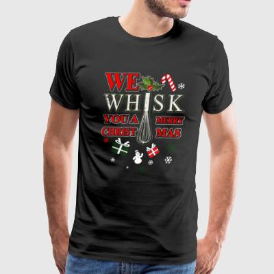 We Wish You A Merry Christ - Chef Christmas - Men's Premium T-Shirt