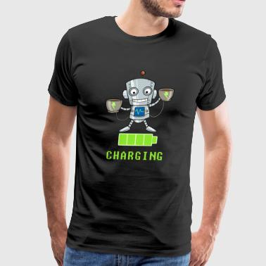 Coffee lovers charging funny - Men's Premium T-Shirt