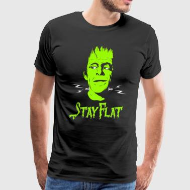 Herman Munster - Flat Earth - Men's Premium T-Shirt