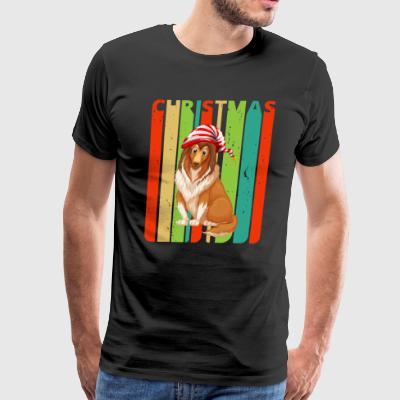 Retro Christmas Gifts for family & friends. Dog - Men's Premium T-Shirt