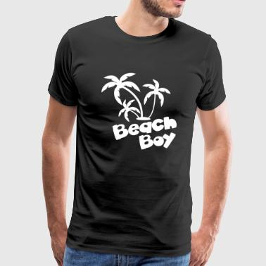 Beach Boy Palm tree - Men's Premium T-Shirt