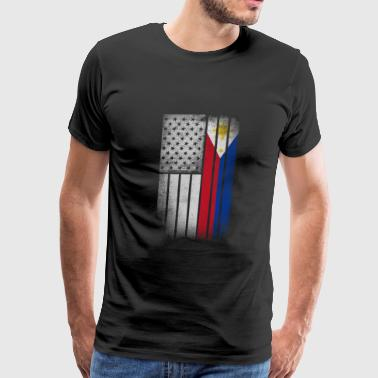 Filipino American Flag - Half Filipino Half Americ - Men's Premium T-Shirt