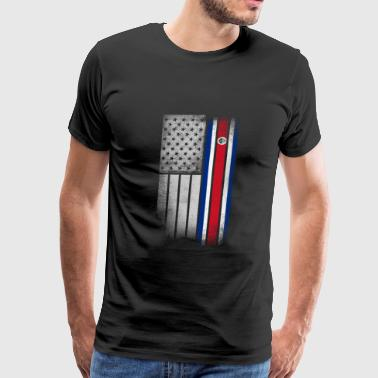 Costa Rican American Flag - Men's Premium T-Shirt