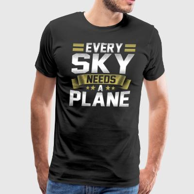 Every Sky needs a plan pilot design - Men's Premium T-Shirt