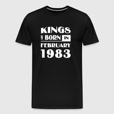 Kings are born in February 1983 - Men's Premium T-Shirt