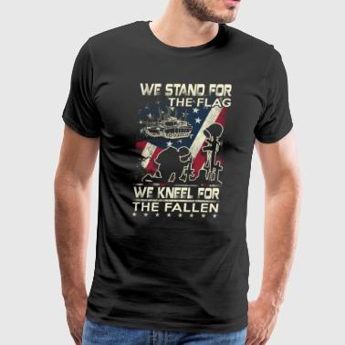 Tanker We Stand For The Flag - Men's Premium T-Shirt