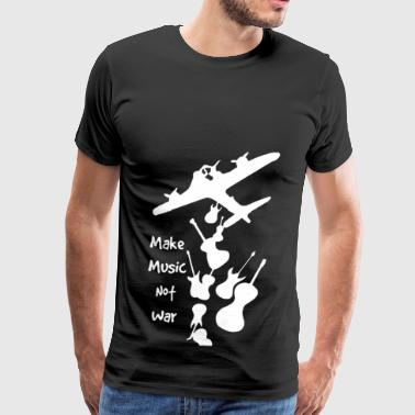 Make Music Not War Shirt - Men's Premium T-Shirt