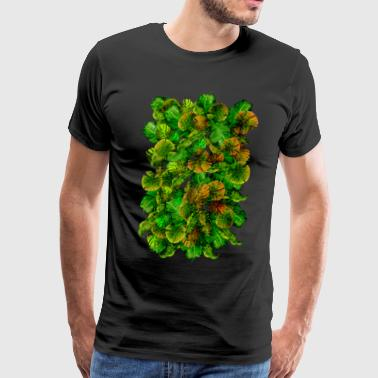 Mashup Leaf Painting T-shirt - Men's Premium T-Shirt