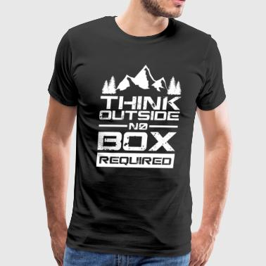 HIKING SHIRT | THINK OUTSIDE THE BOX - Men's Premium T-Shirt