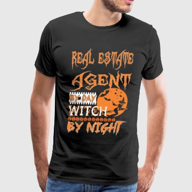 Real Estate Agent By Day Witch By Night Halloween - Men's Premium T-Shirt