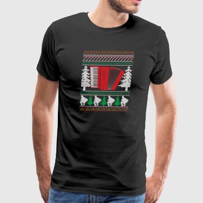 Accordion Ugly Christmas Sweater Band T-Shirt - Men's Premium T-Shirt