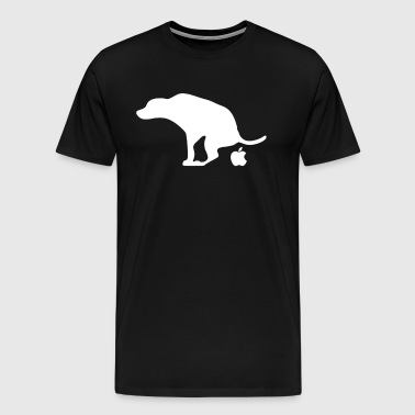 Apple Dog Shit Crap - Men's Premium T-Shirt