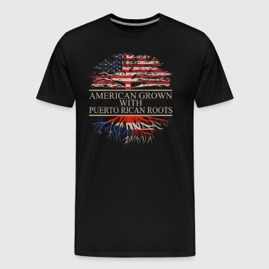 American grown with puerto rican roots - Men's Premium T-Shirt
