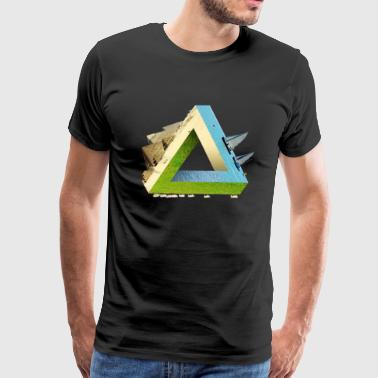 Impossible earth penrose triangle - Men's Premium T-Shirt
