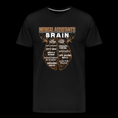 Medical Assistant's Brain Shirt - Men's Premium T-Shirt