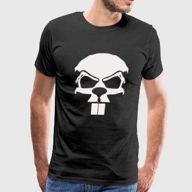 Crazy Beaver Skull - Men's Premium T-Shirt