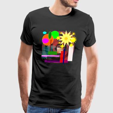 Geometric Booming - Men's Premium T-Shirt