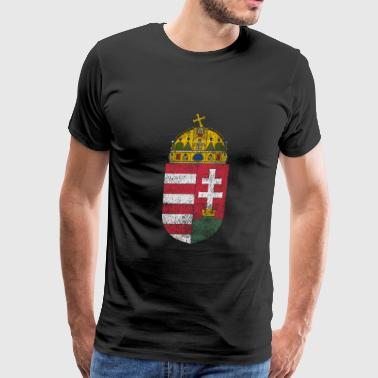 Hungarian Coat of Arms Hungary Symbol - Men's Premium T-Shirt