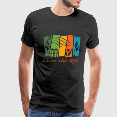 Shire of Narrogin Landscape love the life - Men's Premium T-Shirt