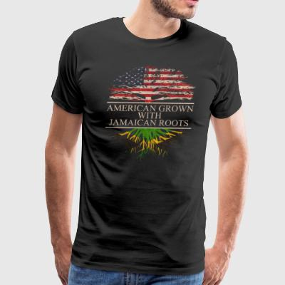 American grown with jamaican roots - Men's Premium T-Shirt