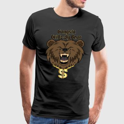 Grizzly Gangsta - Men's Premium T-Shirt