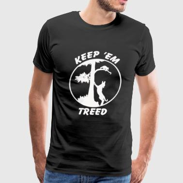 keep em treed coon hunting - Men's Premium T-Shirt