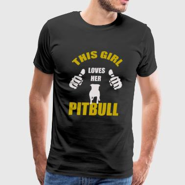 This Girl Loves Her Pitbull - Men's Premium T-Shirt