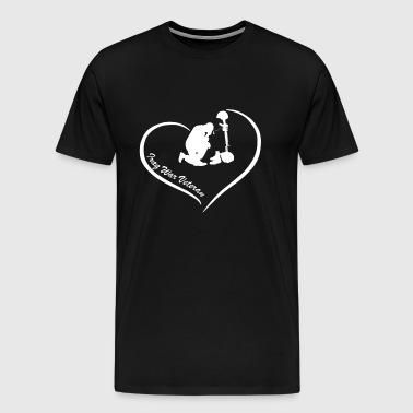 Iraq War Veteran Heart - Men's Premium T-Shirt