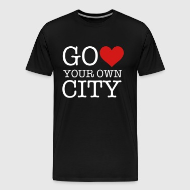 heart your own city - Men's Premium T-Shirt