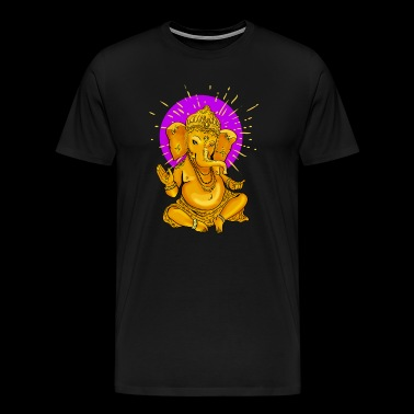 ganesha gold Yoga india Namaste shanti Buddha good - Men's Premium T-Shirt