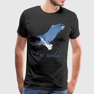 BE WILD EAGLE SKY NATURE SHIRT COOL - Men's Premium T-Shirt