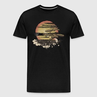 Vintage Tree Sunset - Men's Premium T-Shirt