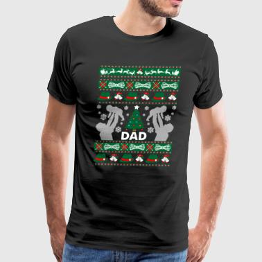 Dad Ugly Christmas Sweater - Men's Premium T-Shirt