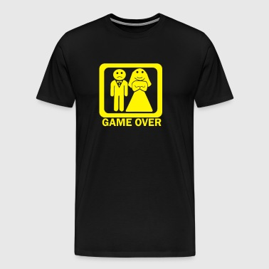 Game Over Funny Wedding - Men's Premium T-Shirt
