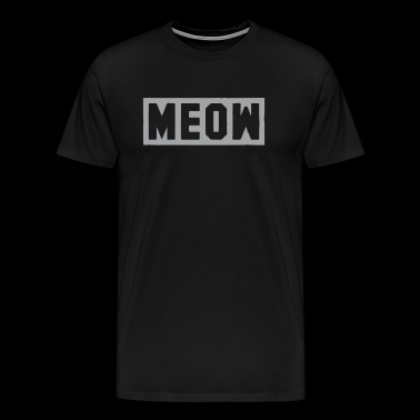 Meow Cat Fashion Pop Culture - Men's Premium T-Shirt