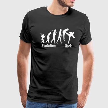 funny evolution kick shirt - Men's Premium T-Shirt