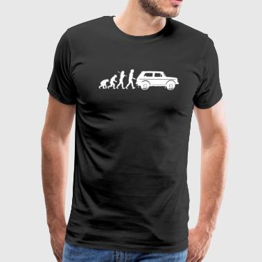 Evolution of Man Lada Niva - Men's Premium T-Shirt