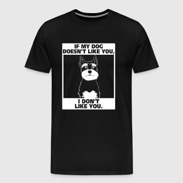 schnauzer dog - Men's Premium T-Shirt