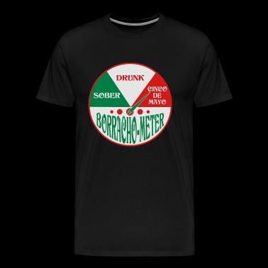 Borracho Meter Cinco De Mayo - Men's Premium T-Shirt