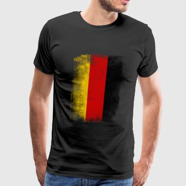 Germany Flag Proud German Vintage Distressed - Men's Premium T-Shirt