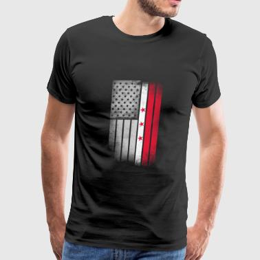 District of Columbia Flag - Men's Premium T-Shirt