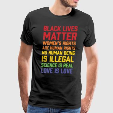 Black lives matter women's rights are human right - Men's Premium T-Shirt