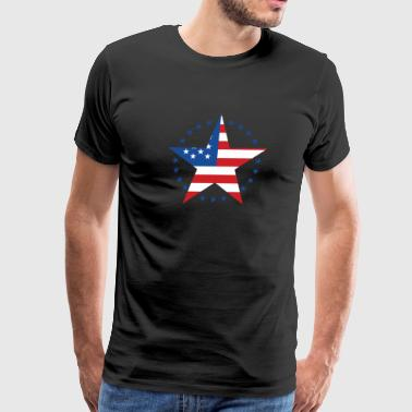 Stars And Stripes - Design For Real Americans - Men's Premium T-Shirt