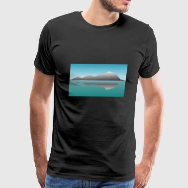 Landscape Reflection - Men's Premium T-Shirt