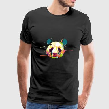 Head Panda abstract animal wildlife vector image - Men's Premium T-Shirt