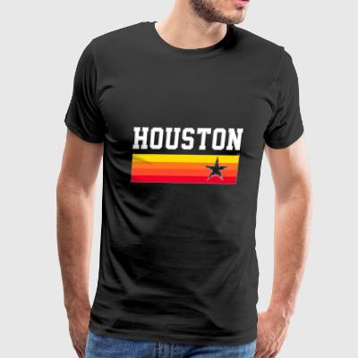 Houston Baseball Throwback Astro Vintage Stripes - Men's Premium T-Shirt