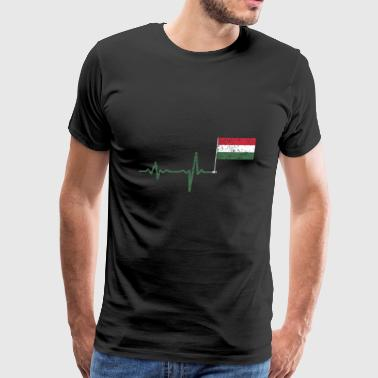 Heartbeat Hungary flag gift - Men's Premium T-Shirt